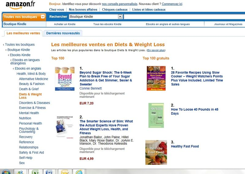 Amazon FRANCE KINDLE #1 Diets Weight Loss