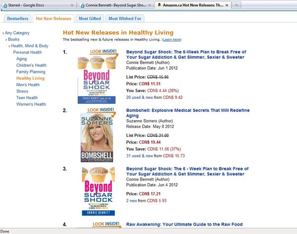 Amazon CANADA #1 HNR Healthy Living